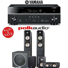 Introducing Polk Audio Signature S50 51Ch Home Theater Speaker System with Yamaha RXV781BL 72Ch Network AV Receiver. Great product and follow us for more updates!