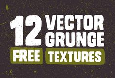 12 #vector grunge #texture | #vintage #distressed #grunge #hand #drawn #freebie