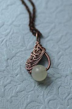 Wire Jewelry Patterns, Wire Jewelry Designs, Handmade Wire Jewelry, Beaded Jewelry, Wirework Jewelry Tutorials, Chanel Jewelry, Jewlery, Wire Wrapped Pendant, Wire Wrapped Jewelry