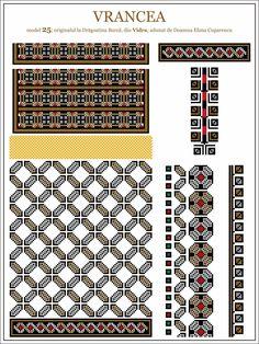 Cross Stitch Borders, Cross Stitch Patterns, Embroidery Motifs, Moldova, Hama Beads, Beading Patterns, Pixel Art, Folk Art, Chart