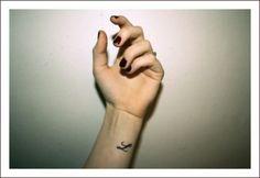 a letter, tattoo