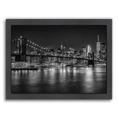 """East Urban Home 'New York City Nightly Impressions' Photographic Print Size: 11"""" H x 14"""" W, Format: Black Framed"""