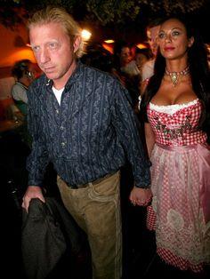Holz vor der Hütten! Ihre Dirndl-Figur zeigte Lilly an der Seite von ihrem Boris beim Oktoberfest 2007.