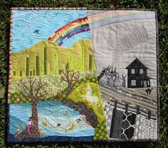 This quilt is very special, made me fall in love with quilting as a fabric artistry and story telling. y.