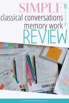 schedule for Classical Conversations review - all cycles; memory master prep and easy review ideas
