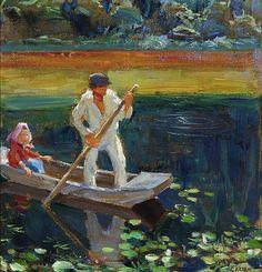 The Athenaeum - GALLEN-KALLELA, Akseli Finnish (1865–1931)_The boat