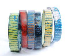 ARC-EN-CIEL   enameled bangles set by OYRZANOWSKA on Etsy