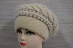 Шапка - боярка вязаная женская. Купить шапки оптом в Украине.