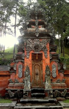 Balinese Temple. There are more than 10,000 temples on this small Island and they all share a similar design.
