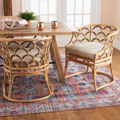 Bamboo Dining Chairs, Table And Chairs, Rattan Chairs, Eclectic Dining Chairs, Eclectic Kitchen, Lounge Chairs, Bamboo Furniture, Home Furniture, Deco Furniture