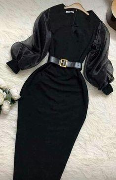 Muslim Fashion, Modest Fashion, Fashion Dresses, Classy Outfits, Trendy Outfits, Hijab Fashion Inspiration, Prom Dresses With Sleeves, Mode Hijab, Ideias Fashion