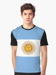 'Argentina Flag' T-Shirt by Argentina Flag, Flag Design, Tshirt Colors, Female Models, Chiffon Tops, Classic T Shirts, Shirt Dress, Tees, Casual