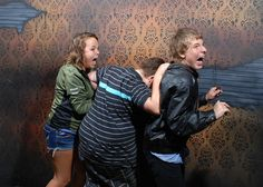 A whole page filled with pictures from a hidden camera at a haunted house! Hilarious!!!