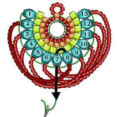 Materials: Miyuki Triangle Matte Silverlined Cobalt - 1 tube T Bead Jewellery, Seed Bead Jewelry, Seed Bead Earrings, Beaded Earrings, Seed Beads, Beading Patterns Free, Beaded Jewelry Patterns, Beading Tutorials, Bracelet Patterns