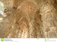 Park Guell Balcony Yard In Barcelona, Spain. Stock Photo - Image of antique, earth: 117085838