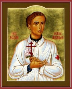 The newest saint in the Orthodox Church, Saint Alexander Schmorell, founder of the anti-Nazi White Rose group, martyred for writing anti-Nazi pamphlets.