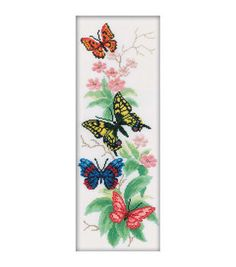 RTO Butterflies And Flowers Counted Cross Stitch Kit