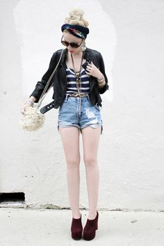 on the hunt for a flattering pair of high-waisted denim shorts for summer.