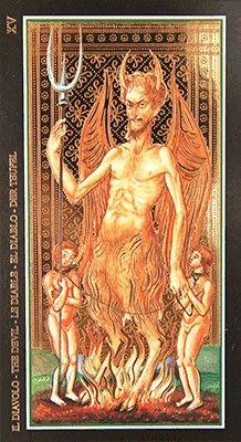 15 Tarot de Visconti Sforza Le Diable. www.metatarots.com