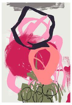 Abstract energy by Kristin Berg Johnsen, via Behance Brotherly Love, New Girl, Abstract Art, Feelings, Artwork, Composition, Prints, Behance, Paintings