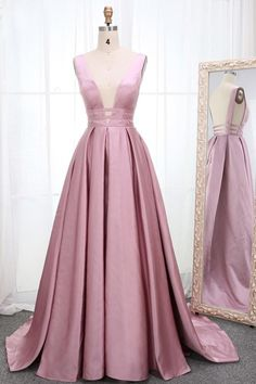 long prom dresses - Pink Satin Open Back Long Prom Dress, Pink Evening Dress from Sweetheart Dress Blush Prom Dress, Pink Evening Dress, Pink Prom Dresses, A Line Prom Dresses, Cheap Prom Dresses, Formal Evening Dresses, Simple Dresses, Party Dresses, Prom Dresses For Teens