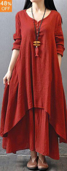 Loving this Vintage maxi dress. Gracila Women V-neck Long Sleeve Double Layers Button Asymmetric Vintage Maxi Dresses. Loving this Vintage maxi dress. Gracila Women V-neck Long Sleeve Double Layers Button Asymmetric Vintage Maxi Dresses.