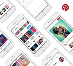 Pinterest Mobile GUI Kit Freebie