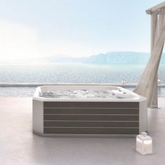 Acrilan SPA 5 Modern Whirlpool Double Ended Outdoor Hot Tub 200x200 - FloBaLi #whirlpool #whirlpools #whirlpooltub #whirlpoolbath #spa #hottub #hottubs #hottubspa Outdoor Spa, Handheld Vacuum Cleaner, Whirlpool Tub, Thermal Insulation, Hot Tubs, Artificial Leather, Waterfall, Bathtub, Modern