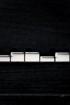 Black and White Photo of Piano Keys Playing - Fine Art Photo Entitled Musical Mystery- 8 X 12 Black White Photos, Black N White, Black And White Photography, White Art, White Style, Piano Keys, Piano Music, Piano Bar, Art Music