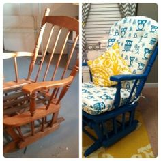 Before & After: Refinished Glider from HolyCraft and CJ's Cozy Cushions