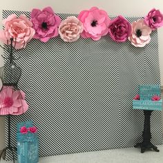 Devine Cooking Party Photo Backdrop JCSDesigns, The Events Stylist Tissue Flowers, Paper Flower Backdrop, Giant Paper Flowers, Large Flowers, Diy And Crafts, Paper Crafts, Idee Diy, Backdrops For Parties, Flower Making