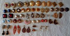 Earrings Mixed Lot Costume Nice Collection Coro Johansen Erwin Pearl SITI VGC #MixedLot #Vintage