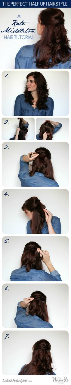 A Kate Middleton Hair Tutorial: Her Famous Half Up Hairstyle #BouffantHairHalfUp