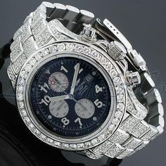 2767f19dd65 Diamond Watches Ideas   Breitling on ice! Breitling Chronometre 1884 Mens  Diamond Watch Ctw - Watches Topia - Watches  Best Lists