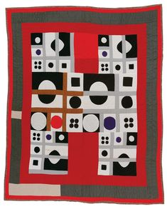 "Nettie Young, born 1917. ""H""variation (quiltmaker's name: ""Milky Way""), 1971, cotton, 88 x 77 inches."