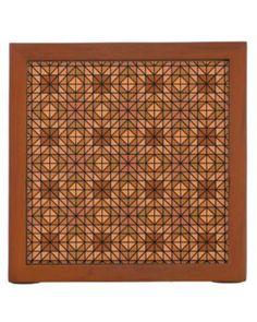 Light blue mosaic tiles desk organizers $30.90 *** Light blue seamless mosaic tile pattern design - desk organizer