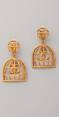 Vintage Chanel Birdcage Earrings