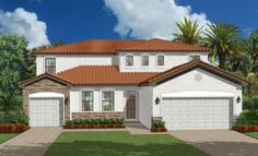 Liberation model - Lennar Homes Gran Paradiso Venice FL New Home Communities, New House Plans, New Homes For Sale, Real Estate Marketing, Venice, Building A House, Florida, Mansions, House Styles