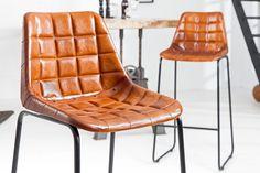 Luxusná hnedá stolička TAURUS BROWN. Stoličky Reaction. Barcelona Chair, Marceline, Bauhaus, Accent Chairs, Modern Design, Interior Design, Elegant, Furniture, Place