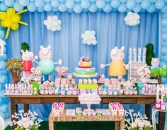 Festa do dudy Pig Birthday, 2nd Birthday Parties, Birthday Party Decorations, Birthday Ideas, Fiestas Peppa Pig, Cumple Peppa Pig, Clown Party, Pig Party, Aniversario Peppa Pig