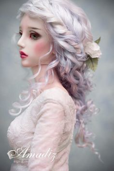 Frozen Roses (natural angora wig for bjd SD, MSD)