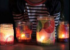 How To Make Beautiful Tissue Paper Jar Lanterns