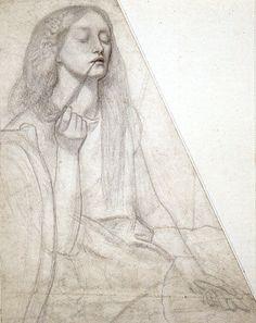 Study for Delia by Dante Gabriel Rossetti