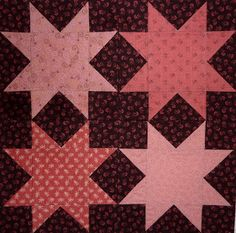 Kathy's Quilts: Chocolate Covered Strawberries Block 17