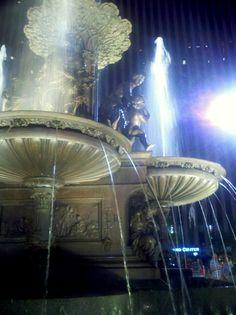 Fountain Square, Cincinnati, OH Small Water Features, Fountain Square, Ohio River, Garden Fountains, Jet Plane, Old Buildings, Family History, Cincinnati, Birth