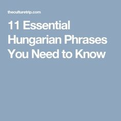 11 Essential Hungarian Phrases You Need to Know Hungarian Cuisine, Hungarian Recipes, Ja Rule, Christmas In Europe, Hungary Travel, News Cafe, I Need To Know, Like A Local