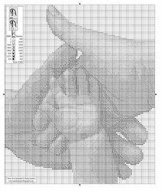 Mani intrecciate Cross Stitch Art, Modern Cross Stitch, Cross Stitching, Cross Stitch Patterns, Blackwork Embroidery, Cross Stitch Embroidery, Pixel Pattern, Sewing Art, Crochet Diagram
