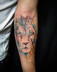 Watercolor tattoo Obrigado Fernando que aproveitou a vinda de Macapá para a…