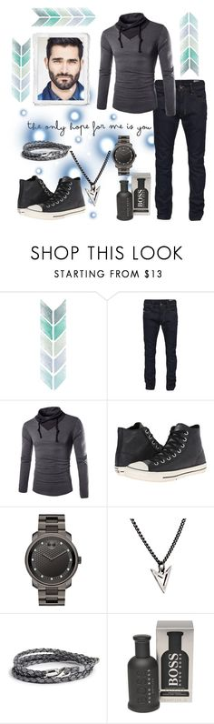 """""""Wesley #2"""" by boondock-saint1999 ❤ liked on Polyvore featuring Diesel, Converse, Movado, Brianna Lamar, MIANSAI, BOSS Hugo Boss, men's fashion and menswear"""