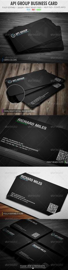 Api Group Business Card Graphicriver Item